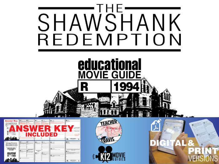 The Shawshank Redemption Movie Guide | Questions | Worksheet (R - 1994)