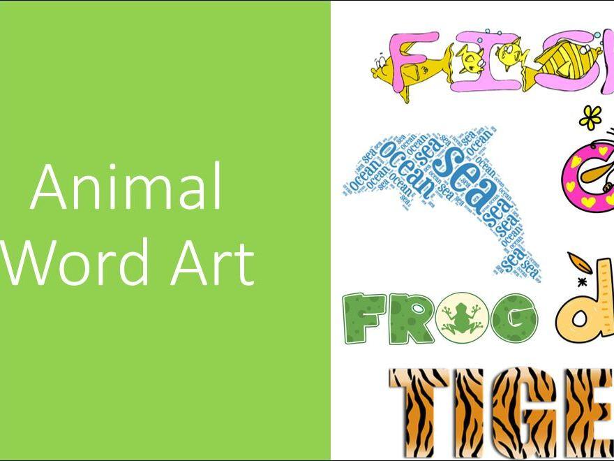 Animal Word Art