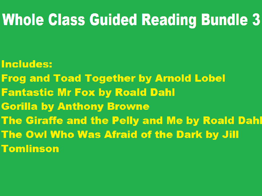 Whole Class Guided Reading Sequence Activities Bundle 3
