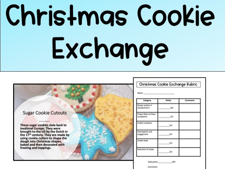 Christmas Cookie Exchange Lesson