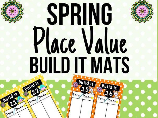 Spring Place Value Build It Activity