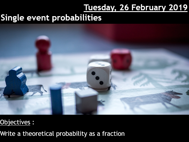 Single event probabilities