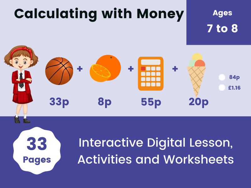 Calculating with Money – Digital Lesson and Activities