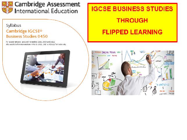 Year 10 Cambridge International IGCSE Business Studies Flipped Notes Booklet 1