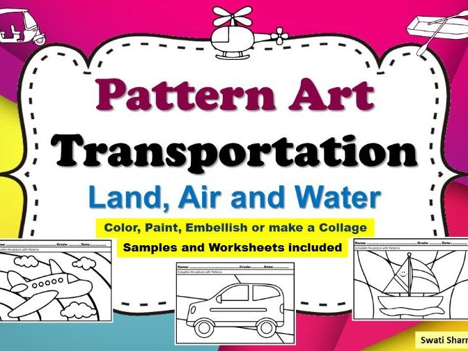 Art Project Pattern Art Pop Art Transportation Worksheets