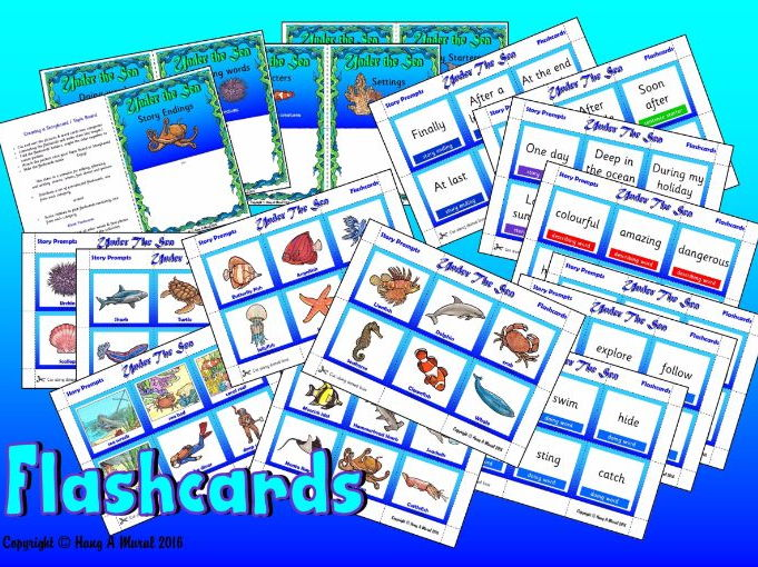 Under The Sea -  Flash Cards / Story Prompts