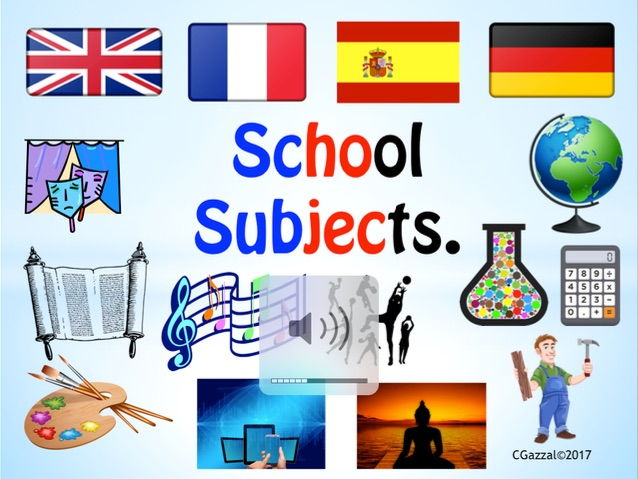 School Subjects for ESL / EFL Students