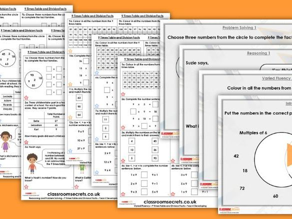 Year 4 9 Times Table and Division Facts Autumn Block 4 Step 10 Lesson Pack