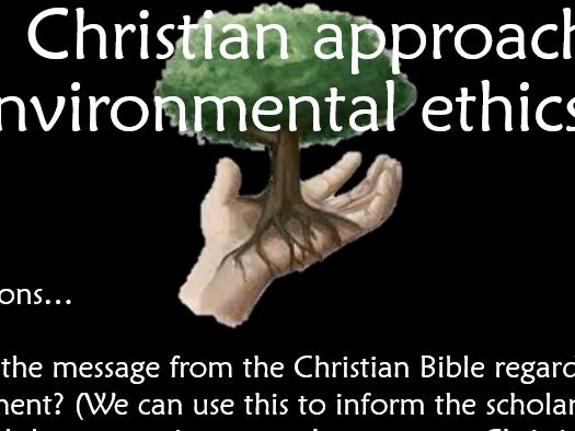 RS AS Edexcel Ethics - Lesson 2 Environmental Ethics