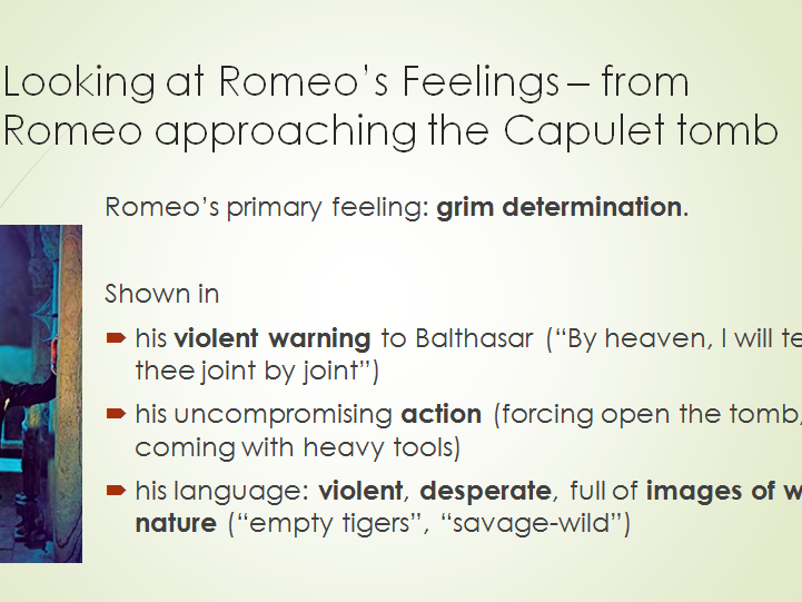 English GCSE - Romeo & Juliet - Part A Question and preparation