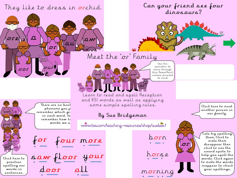 The long vowel or family and CEW