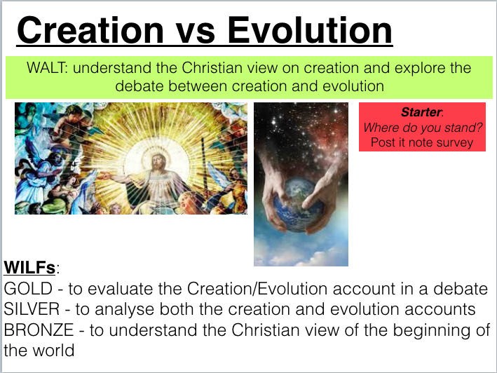 Two Lessons on Creation in Christianity