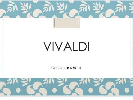 Vivaldi's Concerto in D Minor Op.3 No.11