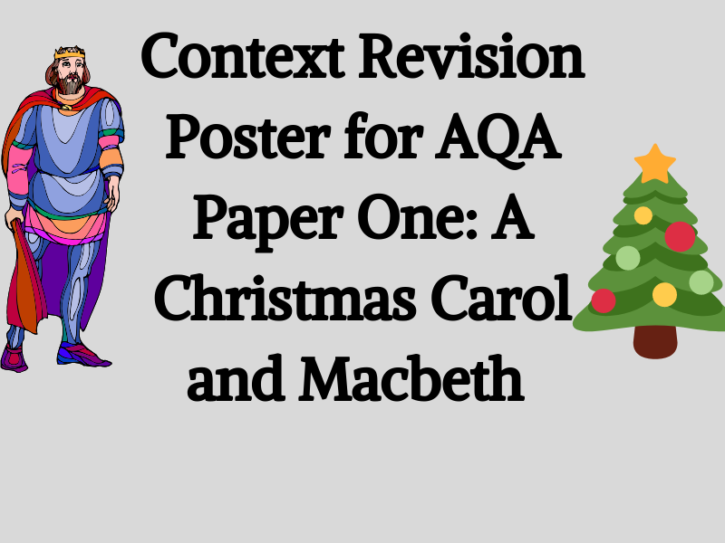 Context Revision Poster: AQA Literature Paper One, A Christmas Carol and Macbeth