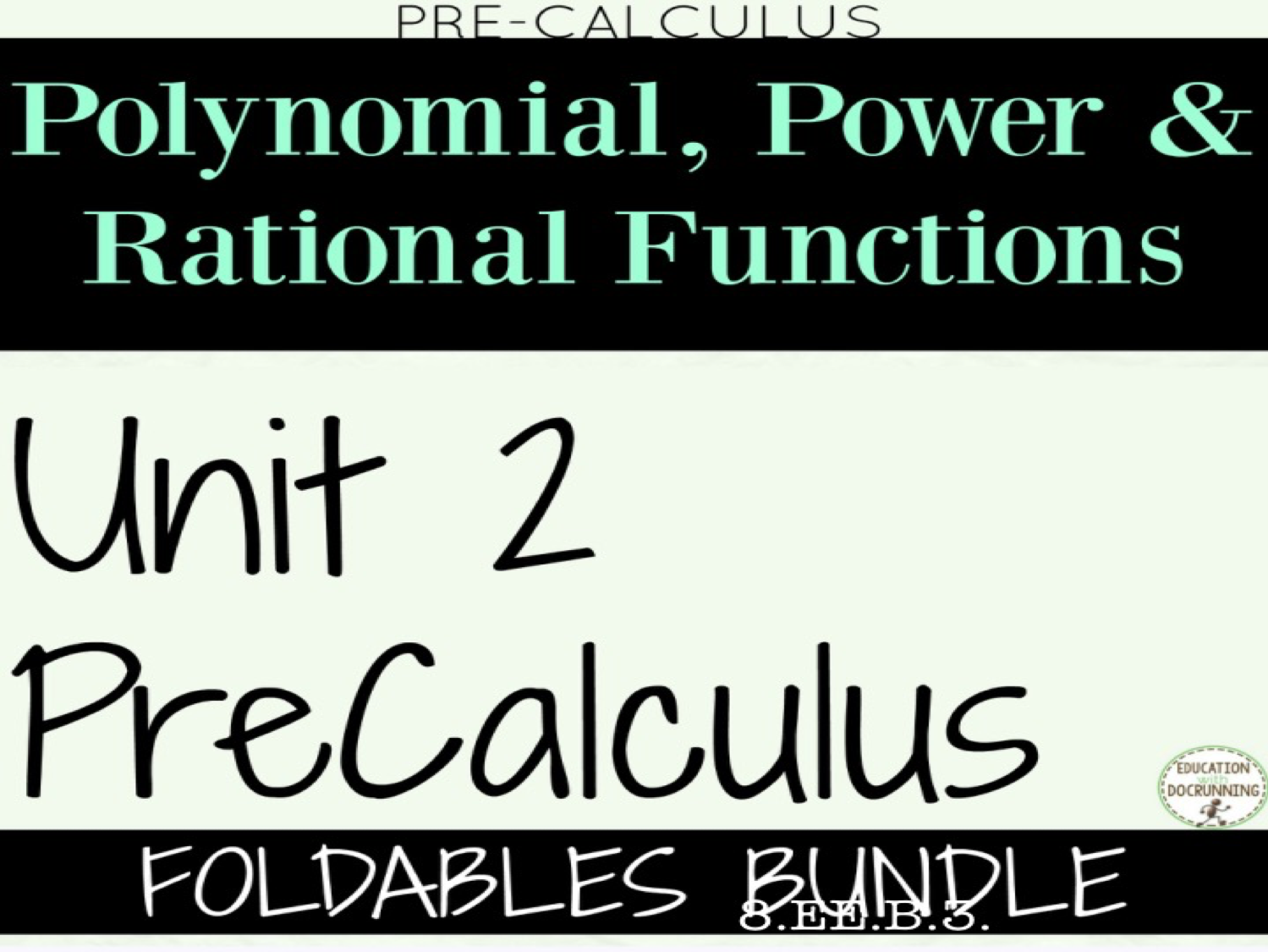PreCalculus Unit 2  Polynomial Power functions and rational functions  Interactive Notebooks Only