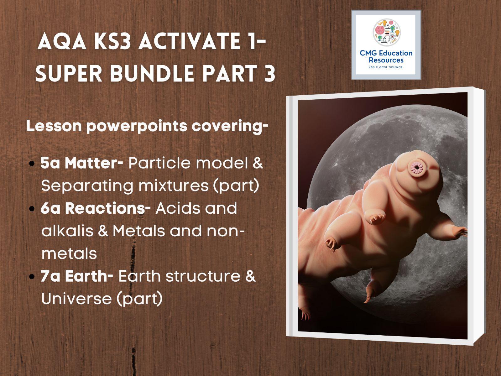 KS3 AQA Activate 1- Super bundle part 3/5