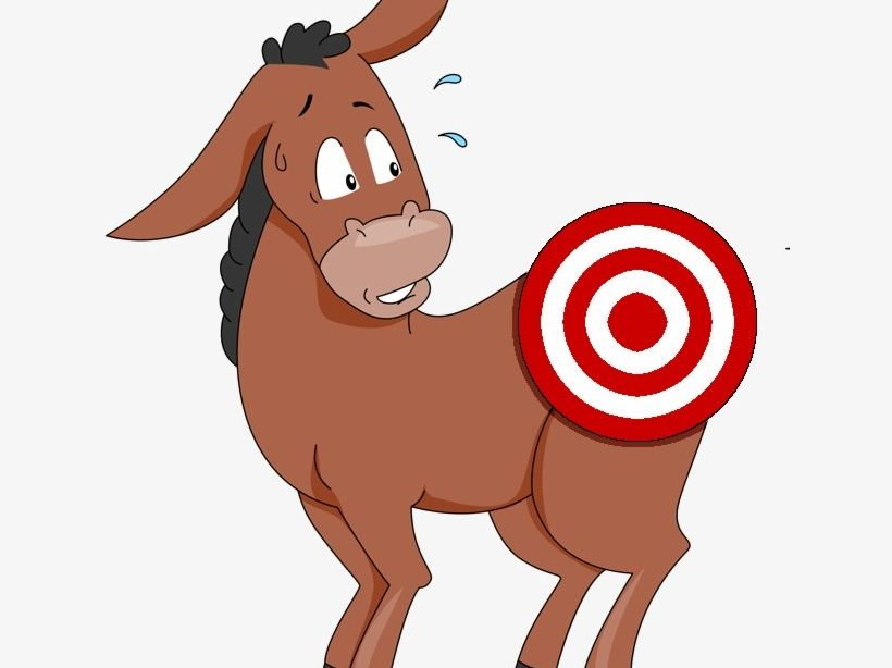 Pin the tail on the donkey - following verbal directions and instructions
