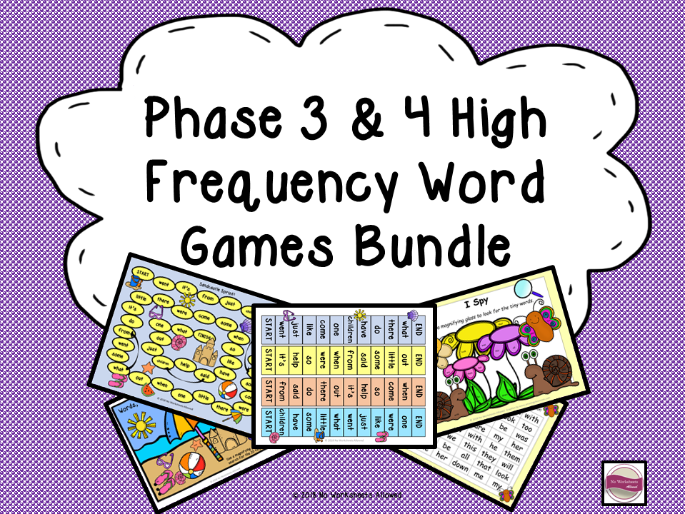 Phase 3 & 4 Phonics: High Frequency Word Games Bundle