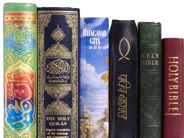 THREE LESSONS Holy Book Bundle: Bible, Guru Granth Sahib & Torah