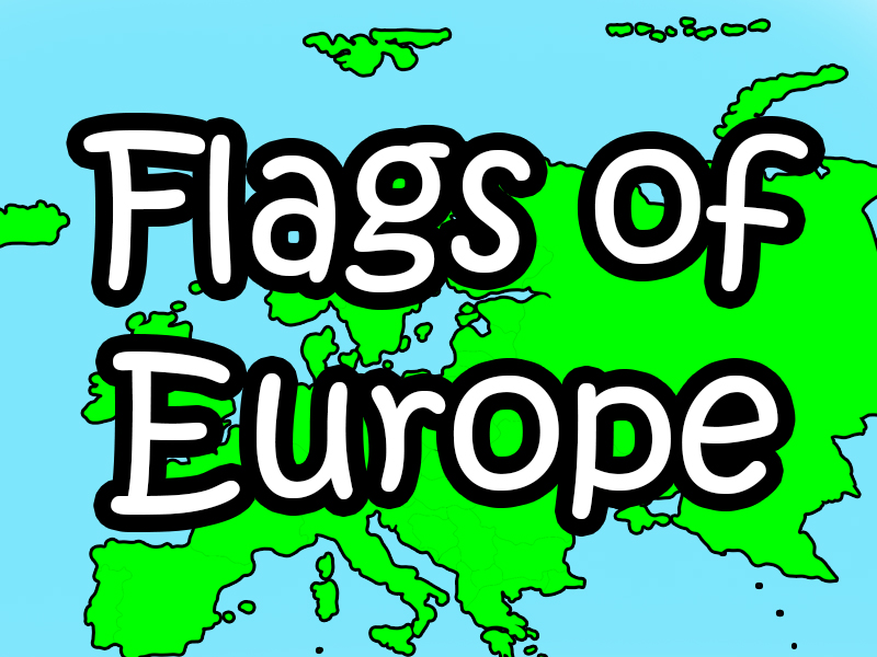 Flags and capital cities of Europe Poster and Brilliant flag game