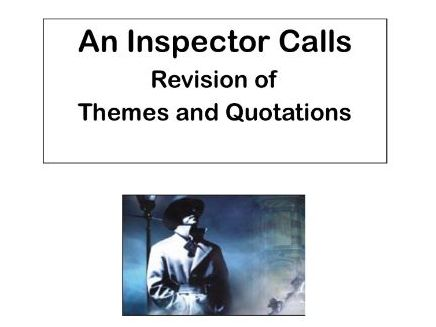 AQA An Inspector Calls:  Theme of Responsibility