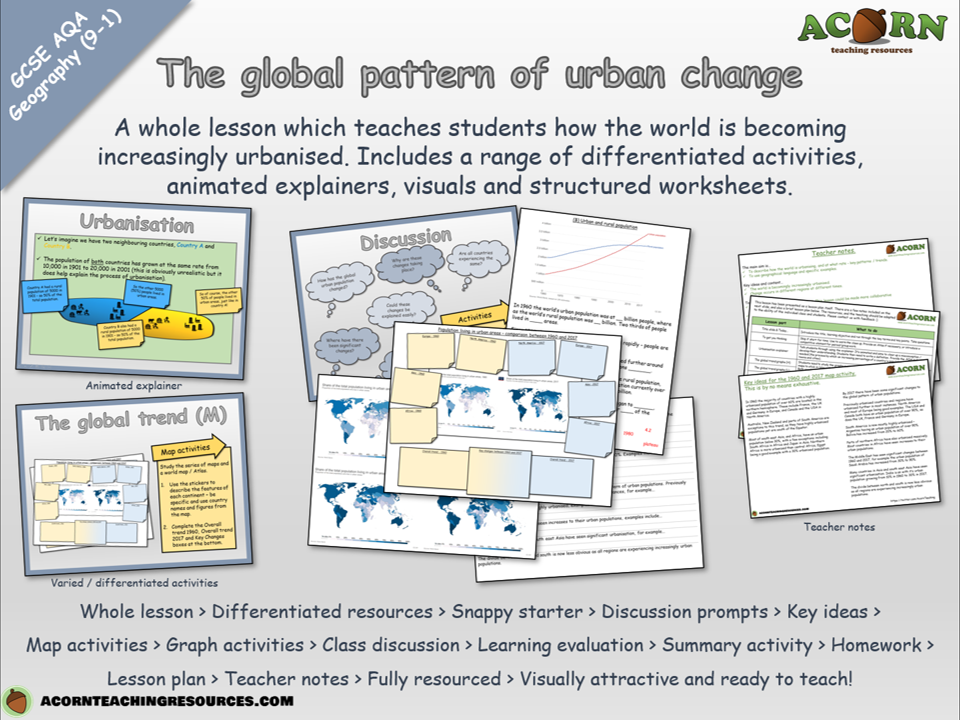 Urban issues and challenges - The global pattern of urban change