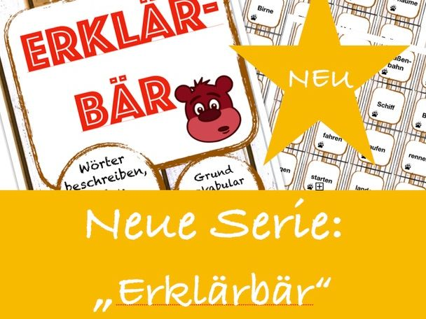 ERKLÄRBÄR-Spiel: der Körper, Deutsch/ German body words game,speaking and describing vocabulary, DAF