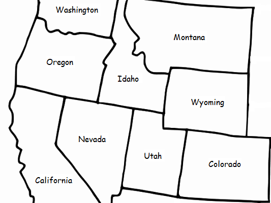 WESTERN REGION OF THE UNITED STATES - Printable handout