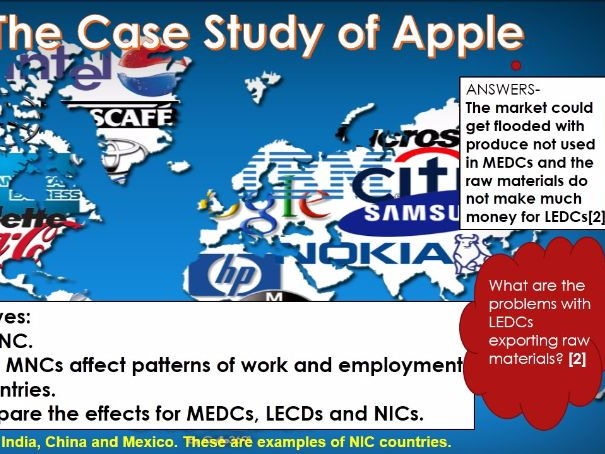 WJEC B 2017 NEW LESSONS 7) What is an MNC?