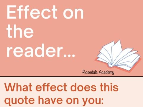 Effect on the Reader   Quotes with examples GCSE /  IGCSE English Secondary Education - Study Notes