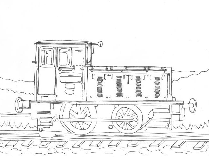 Train Colouring Sheet
