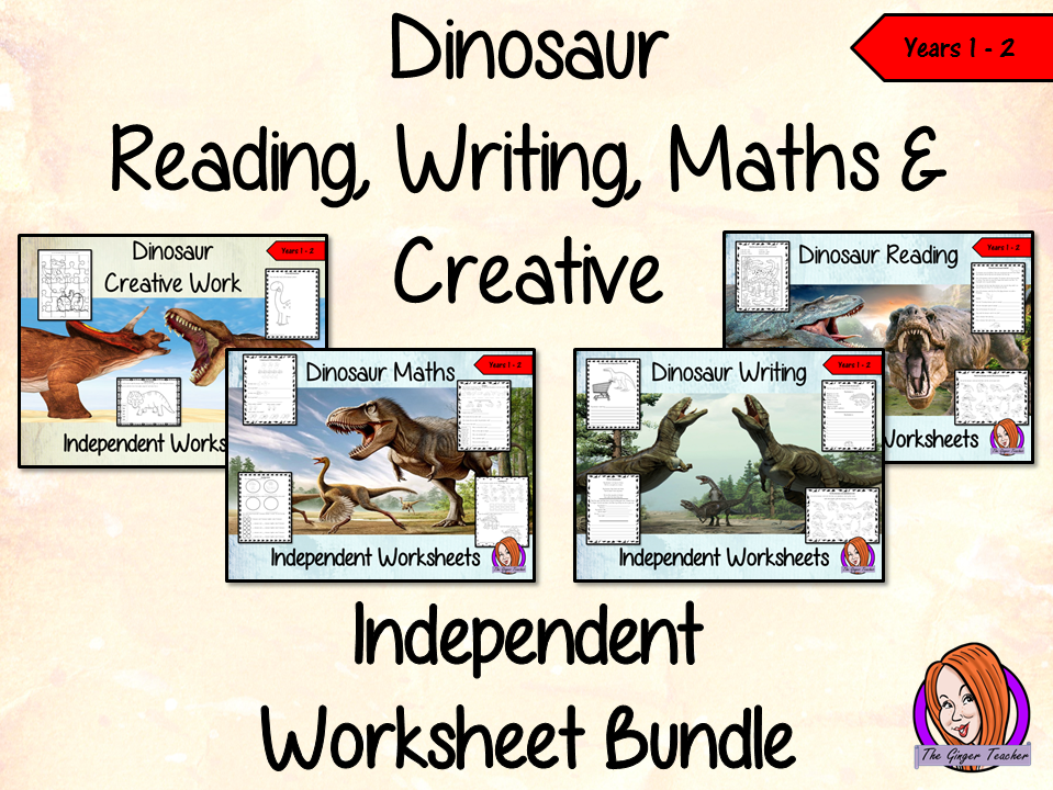 Dinosaur Themed Independent Work Bundle - Year 1/2