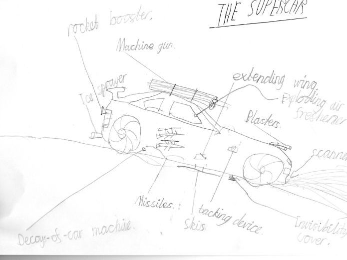 KS3 SEN English spy vehicle task - an explanation task that motivates boys to write
