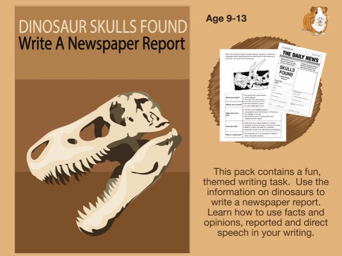 Dinosaur Skulls Found: Write A Newspaper Report (SATS And 11+ Essential Writing Practice) 9-13