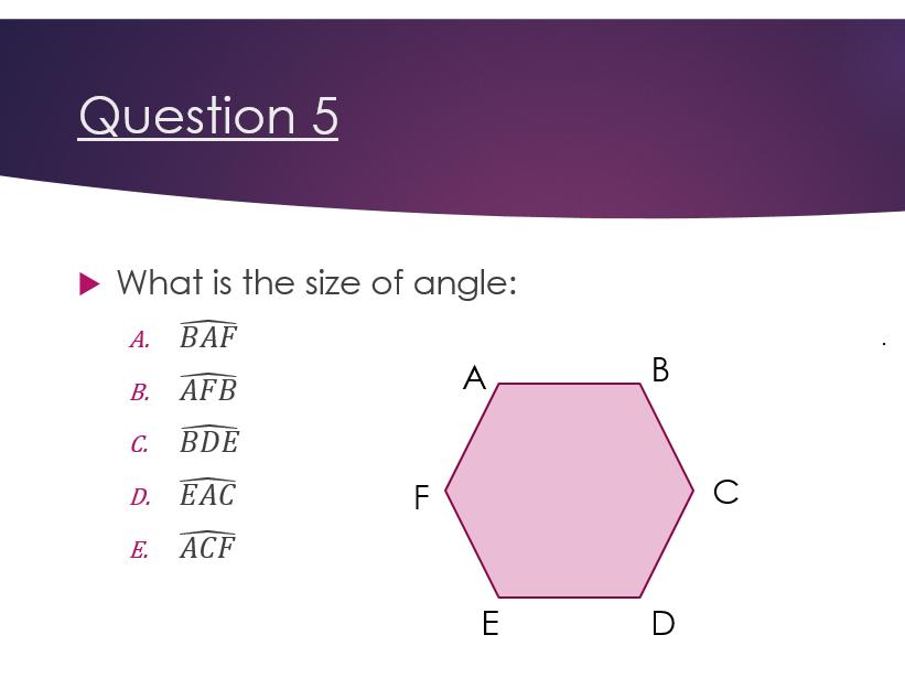 GCSE revision - hexagon