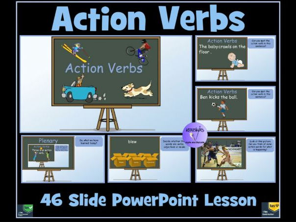 Action Verbs - 46-Slide PowerPoint Lesson