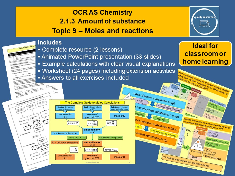 Moles and reactions OCR AS Chemistry