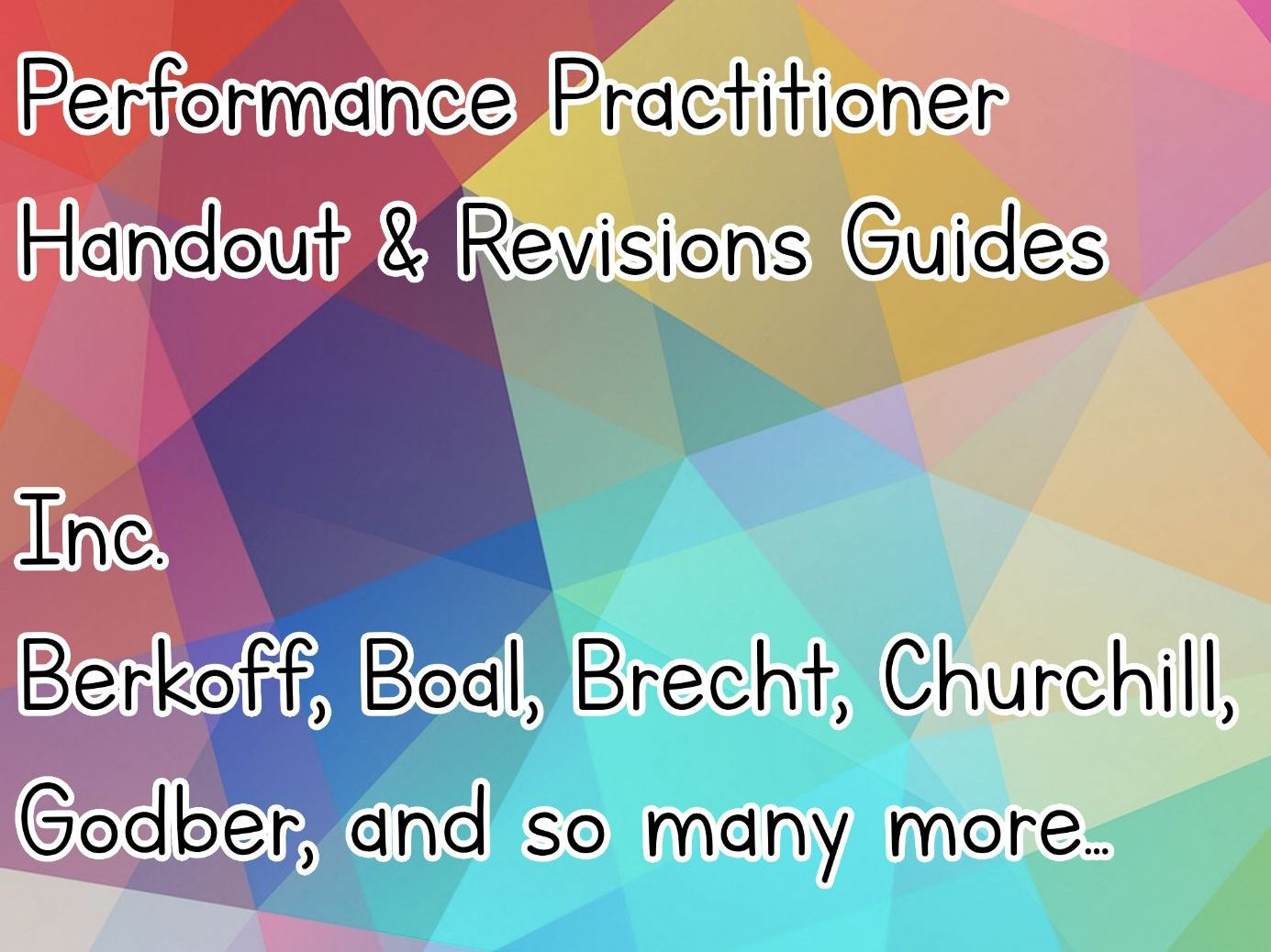 Performance Practitioner Handout / Revision Guides by Jcleep ...