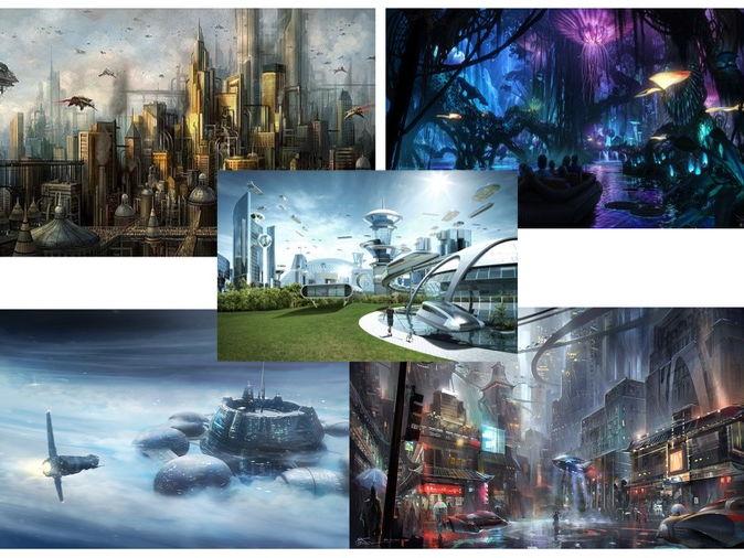 Describing futuristic settings