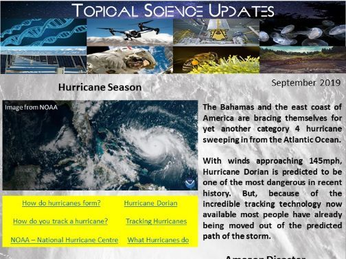 Topical Science Update - September 2019