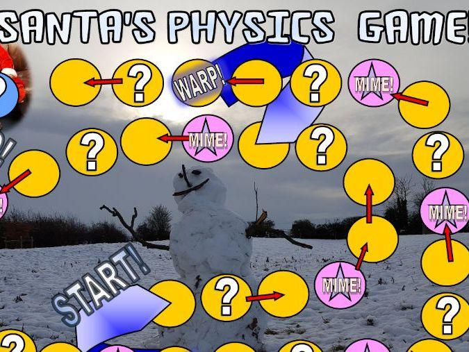 SANTA'S  PHYSICS CHRISTMAS BOARD GAME!