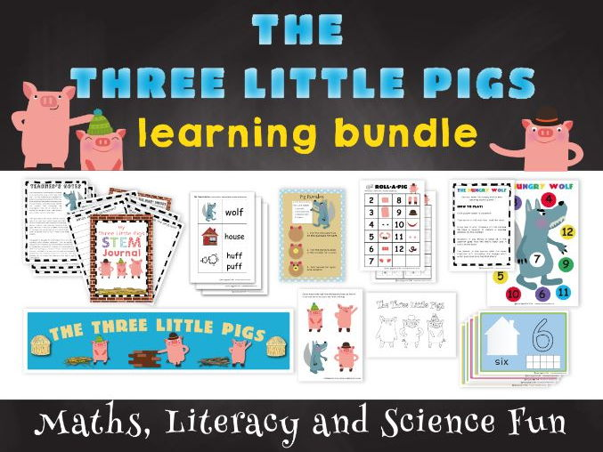 The Three Little Pigs Traditional Tales Learning Bundle
