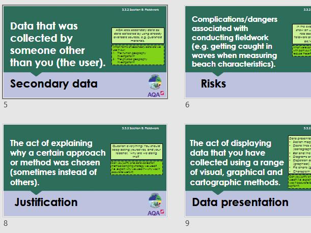 AQA 3.3.2 Geographical skills keywords