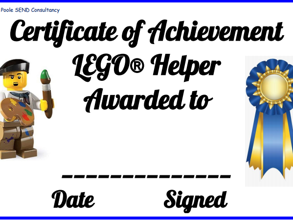 Lego Therapy Certificates