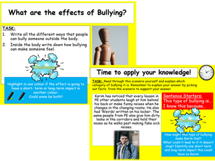 Bullying Lesson and Workpack