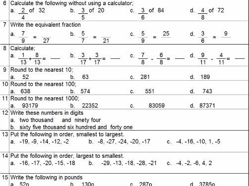 Maths Homework kit - Level 4 Number and Algebra mastery