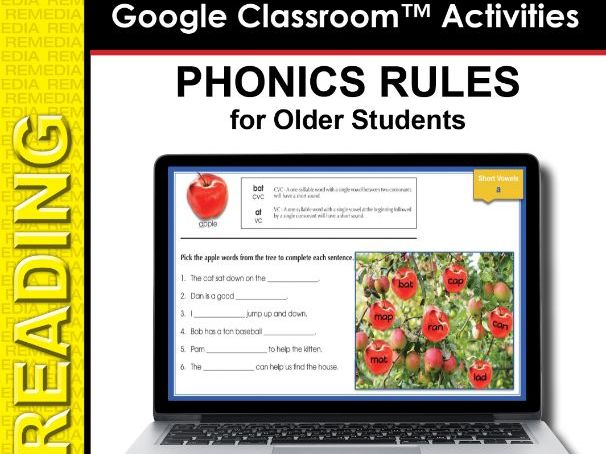 Google Slides: Phonics Rules for Older Students