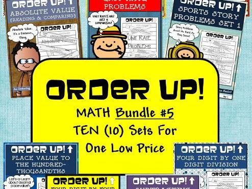 Order Up! Math Bundle #5 (10 Sets)