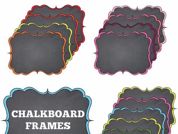 Chalkboard Frames set 4