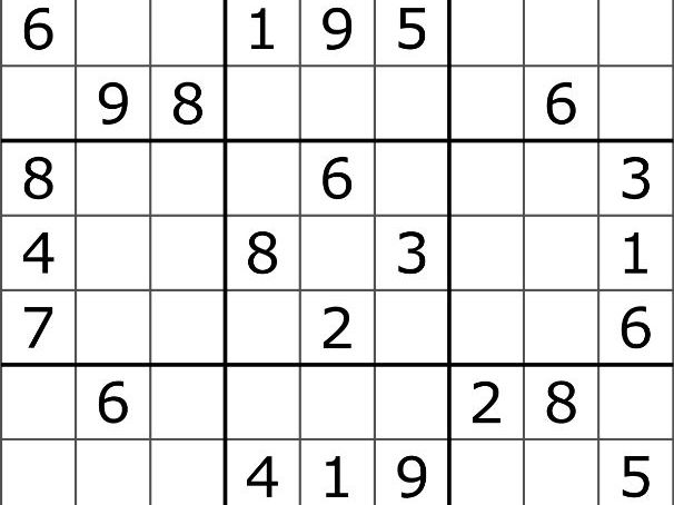 9 Sudoku Maths Games with answers